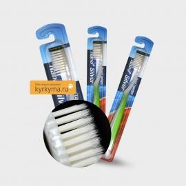 Зубная щетка с тонкими волокнами и серебром